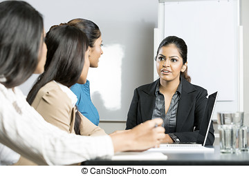 Indian business women in a meeting
