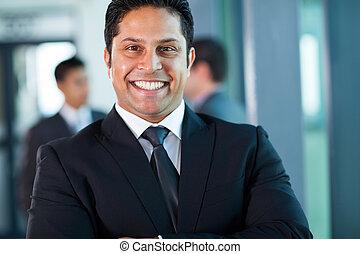 indian businessman close up portrait
