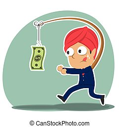 Indian businessman is chasing money