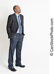 Indian businesspeople looking away - Indian businessman...