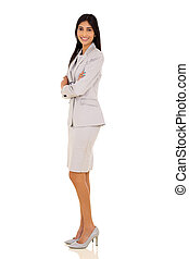 indian businesswoman with arms folded