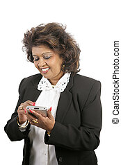 Indian Businesswoman With PDA