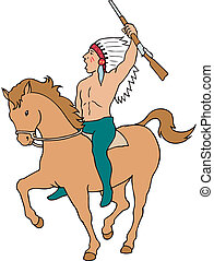 Indian Chief Mascot