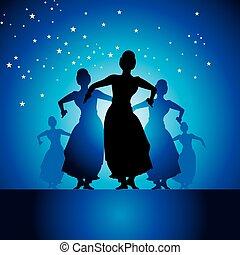 Indian classical dancer