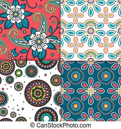 Indian colorful pattern set
