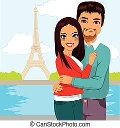 Indian Couple Paris