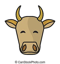 Indian cow head