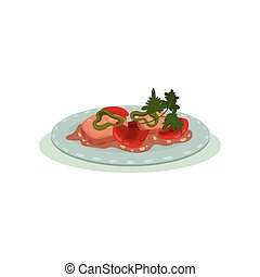 Indian cuisine food dish vector Illustration on a white background