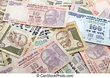 Indian Currency - Indian Rupee bank notes background
