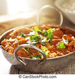 indian curry - chicken tikka masala in balti dish