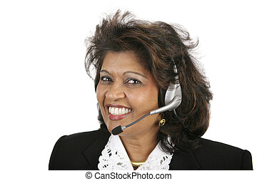 Indian Customer Service Agent - A beautiful Indian customer ...