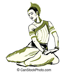 indian dance performer