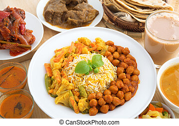 Indian dining meal