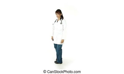 Indian Doctor isolated on a white background