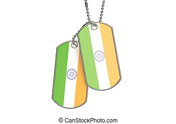 Indian Dog Tags, 3D rendering