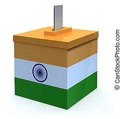 Indian election ballot box