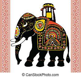 Indian elephant - Vector of Indian elephant