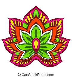 Indian ethnic decorative element.