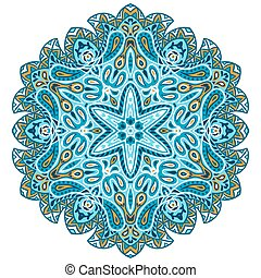 Indian ethnic round ornament. Mandala. Hand drawn decorative element