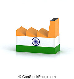 Indian factory symbol concept