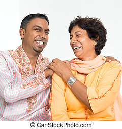 Indian family laughing