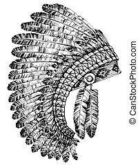 Indian feathers headdress