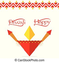 indian festival diwali greeting design - colorful...