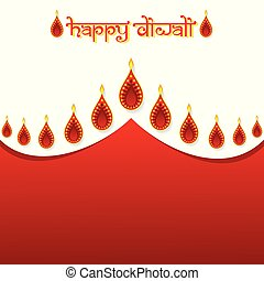 indian festival diwali greeting design - illustration...