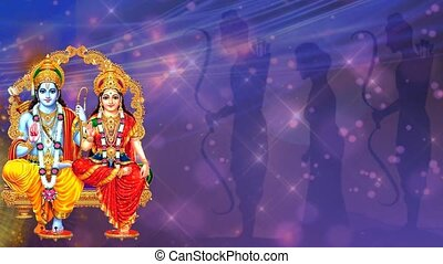 Theme to celebrate Indian festival of Ramnavmi or dussehra