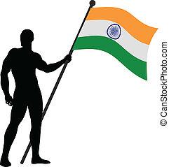 Indian Flag Bearer