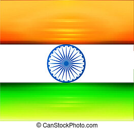 Indian flag bright tricolor colorful vector illustration