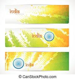 indian flag headers set