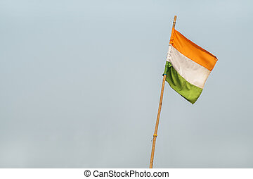 Indian flag on sky background
