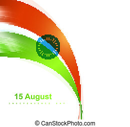 Indian flag stylish wave vector design
