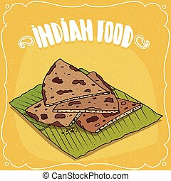 Indian flatbread Roti or Chapati or Paratha - Traditional ...