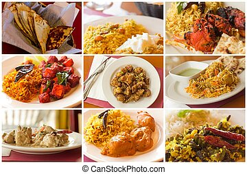 Indian Food Collage