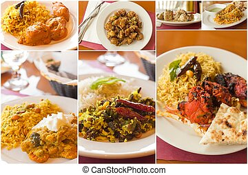 Indian Food Collage - Variety of popular Indian food dishes ...
