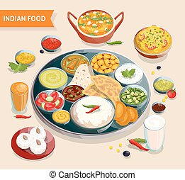 Indian Food Composition - Indian food composition of dishes...