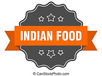 indian food label. indian food isolated seal. sticker. sign