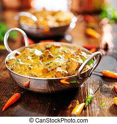 indian food - saag paneer curry dish