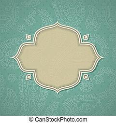 Indian frame.