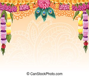 Indian garland background, great design with place for text...