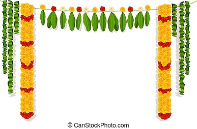 Indian garland of flowers and leaves
