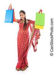 Indian girl shopping