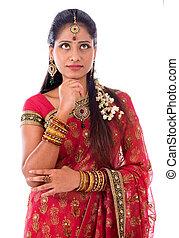 Indian girl thinking
