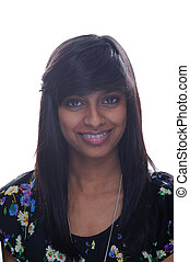 Indian girl with brace