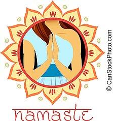 Indian greeting banner Namaste