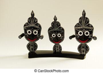 Indian handicraft depicting Hindu Gods