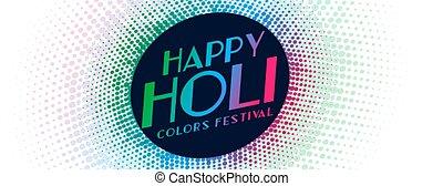 indian happy holi traditional festival banner design