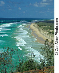 Indian head fraser island view south
